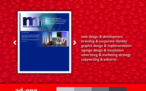 Screenshot of Home Page ad1.com.au - WELCOME TO AD1 DESIGN - captured Oct. 5, 2014