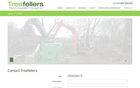 Screenshot of Contact Page treefellers.co.uk - Contact Us | Treefellers - captured Nov. 7, 2017