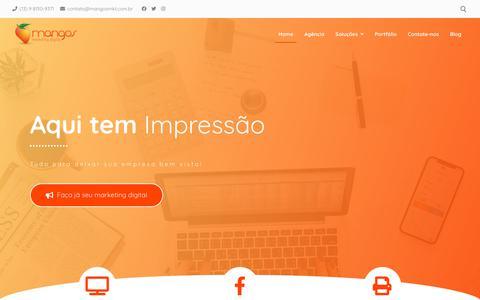Screenshot of Home Page mangosmkt.com.br - Mangos – Agência de Marketing Digital - captured Jan. 24, 2020
