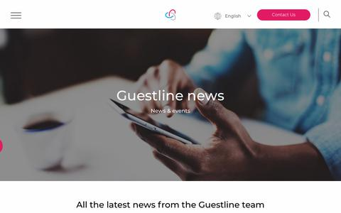 Screenshot of Press Page guestline.com - Guestline News   Hoteliers Cloud-Based Technology - captured Feb. 6, 2019