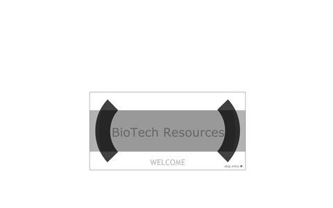 Screenshot of Home Page biotechresources.net - BIOTECHRESOURCES.NET - captured Oct. 5, 2014