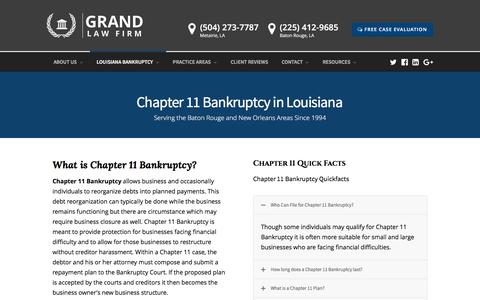 Baton Rouge & New Orleans Chapter 11 Bankruptcy Lawyers
