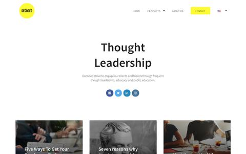 Screenshot of Blog decoded.com - Our Blog | Thought Leadership | Decoded - captured April 1, 2017