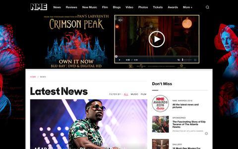 Screenshot of Press Page nme.com - NME Music News | NME.COM - captured Feb. 9, 2016