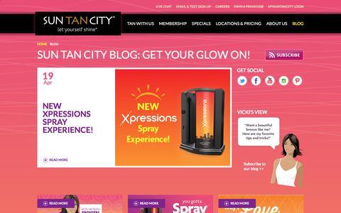 Screenshot of Blog suntancity.com - The Sun Tan City Blog: Get Your Glow On! - captured June 21, 2018