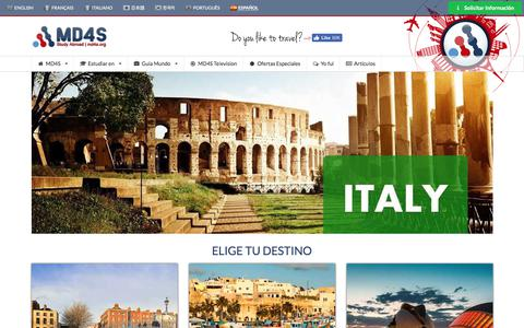 Screenshot of Home Page md4s.org - Estudios en el Extranjero, MD4S | agencia de intercambio culturales - captured July 6, 2017