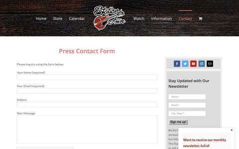 Screenshot of Press Page stationinn.com - Press Contact - Station Inn - captured Oct. 31, 2018