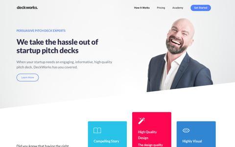 DeckWorks: Persuasive Pitch Deck Experts