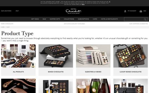 Screenshot of Products Page hotelchocolat.com - Browse Hotel Chocolat's full range of Chocolates & Gifts - Hotel Chocolat - captured July 1, 2018