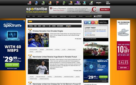 Screenshot of Press Page sportsvibe.co.uk - News | Sportsvibe.co.uk » Sportsvibe.co.uk - captured Sept. 19, 2014