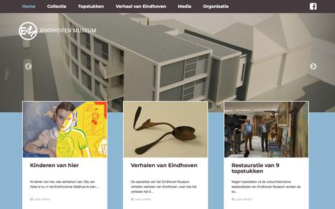 Screenshot of Home Page eindhovenmuseum.nl - Eindhoven Museum - home - captured July 16, 2018
