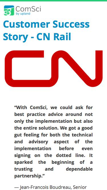 ComSci Customer Success Story: CN Rail