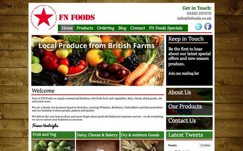Screenshot of Home Page fnfoods.co.uk - FN Foods Swindon - Home Page - captured Oct. 4, 2014