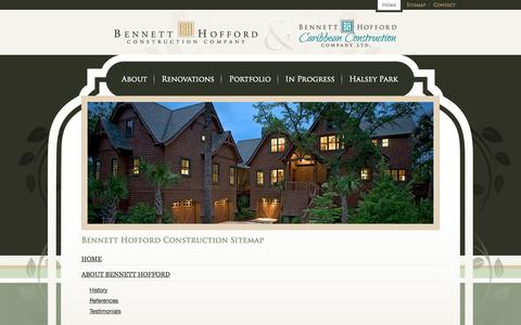 Screenshot of Site Map Page bennetthoffordconstruction.com - Bennett Hofford Construction Sitemap - captured Oct. 5, 2014