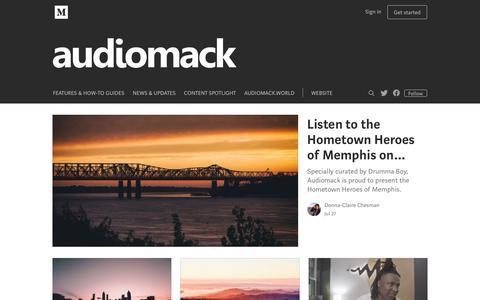 Screenshot of Blog audiomack.com - The Audiomack Blog - captured July 31, 2018