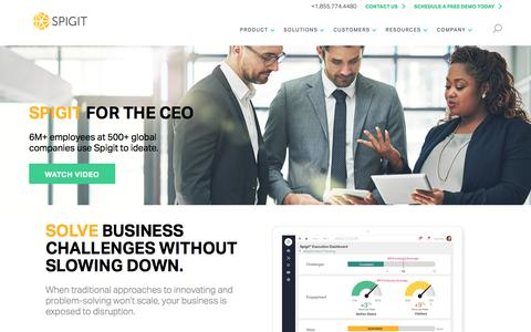 Spigit Ideation Software for CEOs