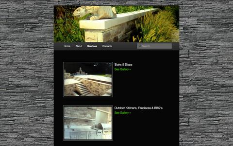 Screenshot of Services Page vazstonework.com - Services | Vaz Stonework Inc.Vaz Stonework Inc. - captured Oct. 9, 2014