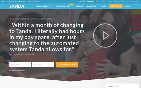 Child Care Rostering Software | Child Care Management | Tanda