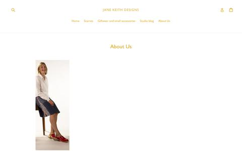 Screenshot of About Page janekeith.com - About Me                      – Jane Keith Designs - captured Oct. 16, 2017