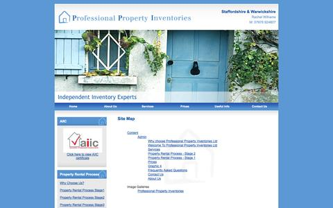 Screenshot of Site Map Page professionalpropertyinventories.co.uk - Site Map : Professional Property Inventories - captured Oct. 3, 2014