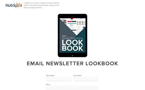 Screenshot of Landing Page hubspot.com - Email Newsletter Lookbook - captured Feb. 29, 2016