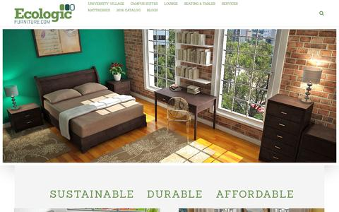Screenshot of Home Page ecologicfurniture.com - Home - Ecologic Furniture - captured July 11, 2016