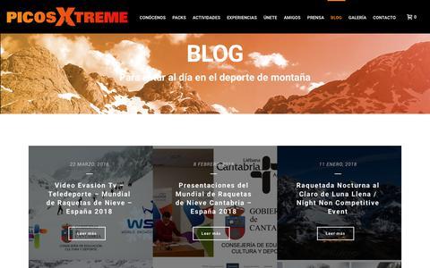 Screenshot of Blog picosxtreme.com - Blog - PicosXtreme - captured July 18, 2018