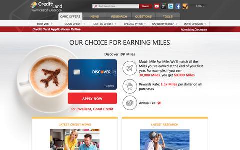 Screenshot of Home Page credit-land.com - Credit Cards - Apply for Best Offers Online at Credit-Land.com - captured July 13, 2017