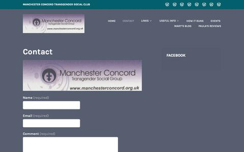 Screenshot of Contact Page wordpress.com - Contact - captured Dec. 3, 2018