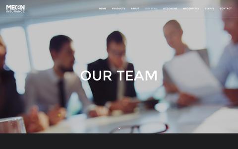 Screenshot of Team Page mecon.com.au - Our Team - MECON Insurance - captured Nov. 18, 2016