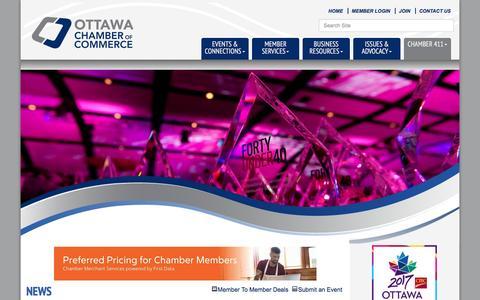 Screenshot of Press Page ottawachamber.ca - News - Ottawa Chamber of Commerce, ON - captured Dec. 6, 2016