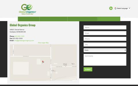 Screenshot of Contact Page globalorganicsgroup.com - Contact Global Organics Group | Global solutions for sustainability         -         Global Organics Group - captured Oct. 22, 2017