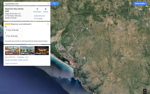 Screenshot of Maps & Directions Page google.es - Google Maps - captured Sept. 19, 2014