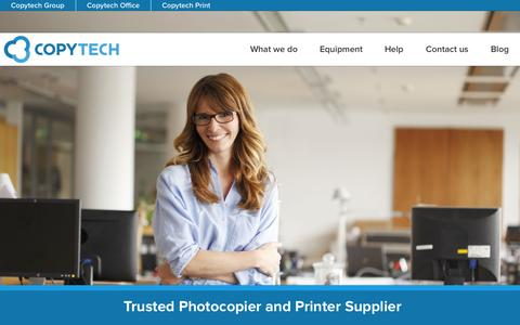 Screenshot of Home Page copytechgroup.co.uk - Copytech - Trusted Photocopier and Printer Supplier - captured Jan. 23, 2015