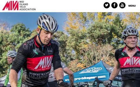 Screenshot of Home Page bikeracing.ca - Mid Island Velo Association - captured Feb. 16, 2016