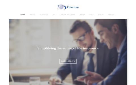 Screenshot of Home Page omnium.com.au - Home - captured Feb. 22, 2016