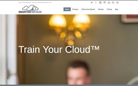 Screenshot of Home Page smartermedium.com - SmarterMedium - captured Oct. 8, 2014