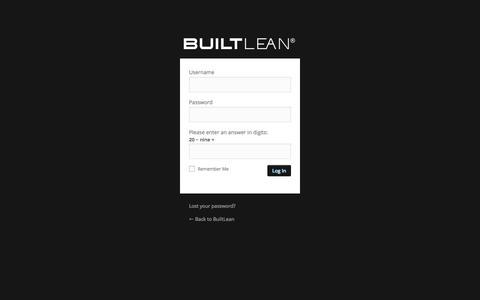 Screenshot of Login Page builtlean.com - BuiltLean › Log In - captured Jan. 14, 2016