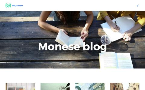 Screenshot of Blog monese.com - Monese blog – The Current Account For Mobile People - captured July 26, 2016
