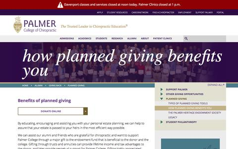 How Planned Giving Benefits You