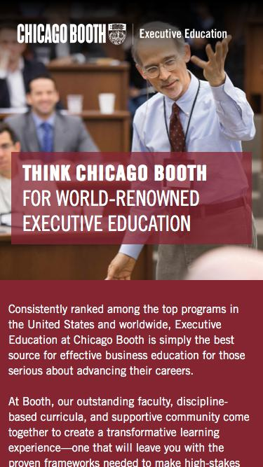 Executive Education at Chicago Booth | Open Courses
