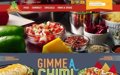 Screenshot of Home Page tacotime.com - TacoTime Home-Style Mexican Food Restaurant - captured Dec. 24, 2015