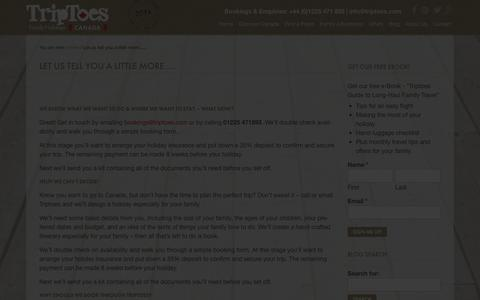 Screenshot of FAQ Page triptoes.com - Frequently Asked Questions - Triptoes Canada - captured Nov. 5, 2014