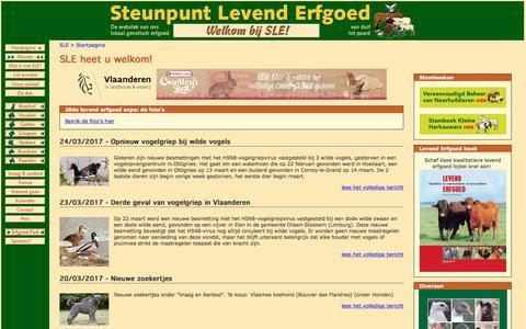 Screenshot of Home Page sle.be - Steunpunt Levend Erfgoed vzw - captured March 25, 2017