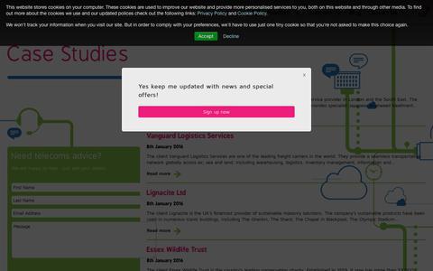 Screenshot of Case Studies Page immervox.com - Case Studies | Contact Us | Immervox - captured Oct. 21, 2018