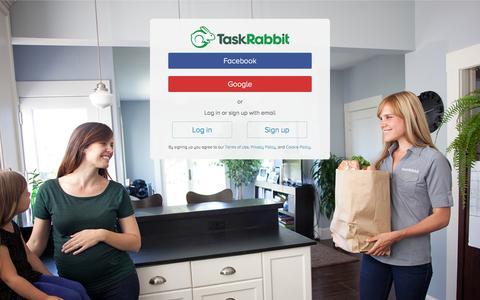 Screenshot of Login Page taskrabbit.com - Log In to TaskRabbit - captured Sept. 17, 2014