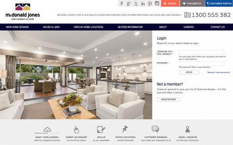 Screenshot of Login Page mcdonaldjoneshomes.com.au - Log in | McDonald Jones Homes - captured Sept. 20, 2018