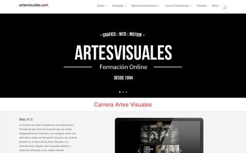 Screenshot of Home Page artesvisuales.com - Home - Instituto Artes Visuales - captured Sept. 19, 2014