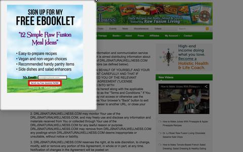Screenshot of Terms Page drljsnaturalwellness.com - Terms & Conditions | Dr. LJ's Natural Wellness Academy - captured Oct. 7, 2014