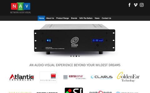 Screenshot of Home Page networkav.com.au - Home Cinema | Hi-Fi | Network Audio Visual | Sydney NSW - captured Dec. 20, 2018